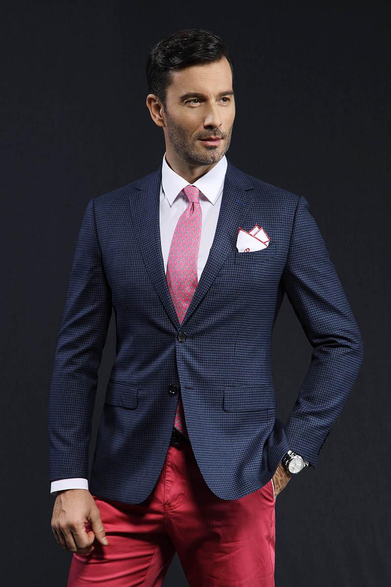 乾龙单西量身定制新品秋季西装男修身时尚休闲潮流西服外套定做细格子西服